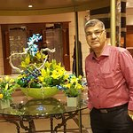 At Front Entrance & Reception with Nice Flower Arrangement