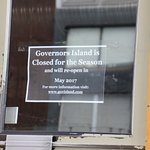Governors Island - Closed for the season