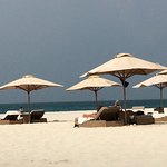 The hotel private beach