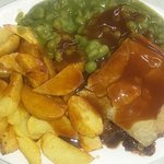 Great steak pie and home made chips