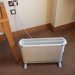 The room was very cold so they had to bring a portable heater - not just for me but for colleagu