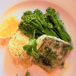 Fillet of hake, cous cous and broccoli fish dish of the day