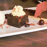 Beautiful trio of chocolate dessert