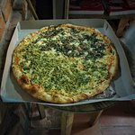 La bellísimas pizzas verdes