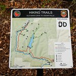 Trail Map at End of Group Camping Area