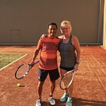 Tennis instruction with Salvador