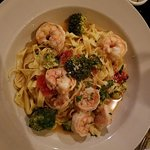 Shrimp scampi with fresh pasta