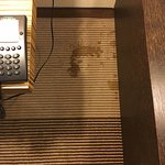 Coffee stain on carpet