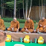 Tam Boon Tak Bart (Giving of Alms to Monks)