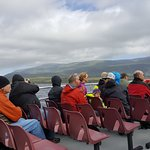 Western Brook Pond - top deck tour boat