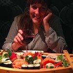 Plateau de sushis , juste délicieux et bien frais