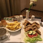 Room service, signature sandwich