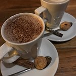 Latte and hot chocolate