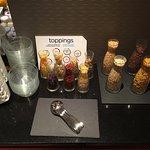 Toppings Bar für die Frühstücksfrüchte
