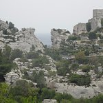 Another stunning view of Les Baux from across the mountain