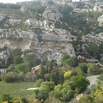 A view from the top of Les Baux looking down