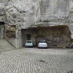 Park your cars in the stone garage