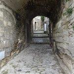 A walkway in Les Baux