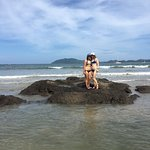 My teenage daughters enjoyed hanging out together surfing and boogie boarding in front of hotel