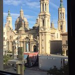 This was the view of the main square of Zaragoza from our room.