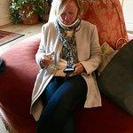 Lobby wine tasting