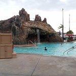 Main pool with slide