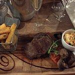 Rib-eye Steak with Chunky Chips