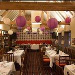 Restaurant set up for reception