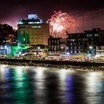 Fireworks display for Mazatlan Marathon