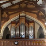 Organ loft with significant architectural features