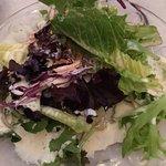 House salad with House Italian - oh yum