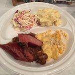 This was amazing....coleslaw, potato salad, sausage, baked beans, potatoes au gratin, creamed co