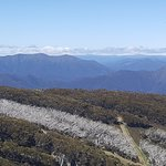 From the top of Mt. Buller (~1800 meters above sea level). And cold!