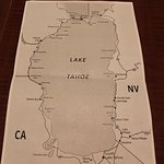 map of lake provided by staff. helpful in ou drive around the lake