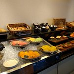 Continental breakfast from the club lounge
