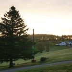 the golf course next door