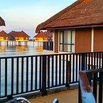 Chalets above water