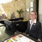 Vanessa, the most helpful hotel worker have ever had, lobby,reception area