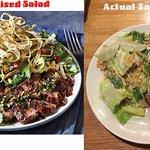 Southwestern Steak Salad Presentation