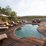 Swimming pool at Sefapane River Lodge