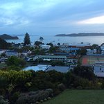 Dawn on the Bay of Islands on a rather drab November day from The Romantica Suite
