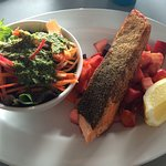 Grilled ginger marinaded salmon