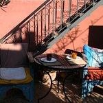 Le petit déj pris sur la terrasse