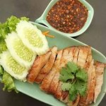 Grilled pork with black peper