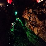 Howe Caverns: colorful lightning