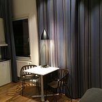 Kitchen area in single studio