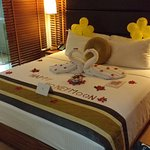 Our room with lovely honeymoon surprise decoration