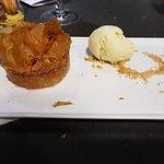 Pastis Quercynnois et sa boule de glace vanille
