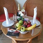 Welcome fruit basket - very nice