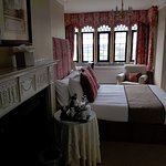 Room #208. A beautiful room with lovely views, it is at the front of the main house, some road n